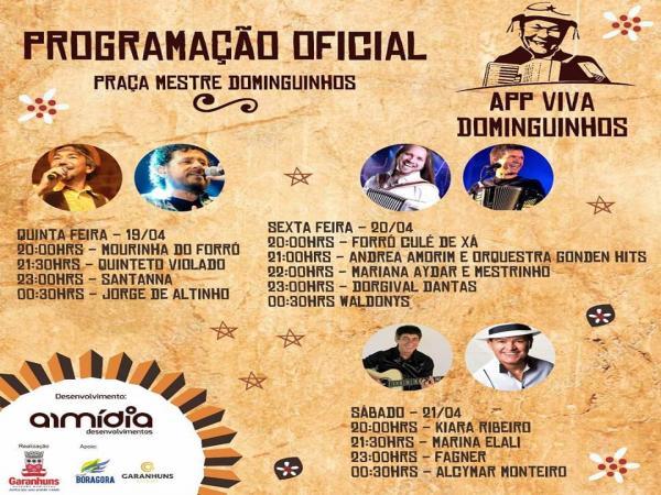Confira a programação completa do Viva Dominguinhos 2018