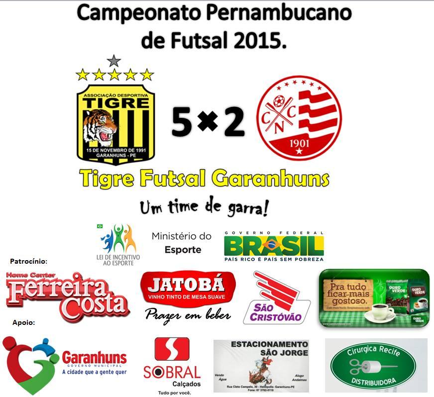 Tigre Futsal Garanhuns derrota Náutico