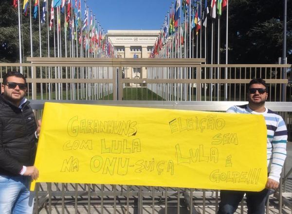 Empresários garanhuenses vão à sede da ONU em Genebra na Suíça e protestam contra inelegibilidade de Lula