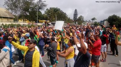 MANIFESTAÇÃO: Grupo de Garanhuenses pede Intervenção Militar e saída de Temer