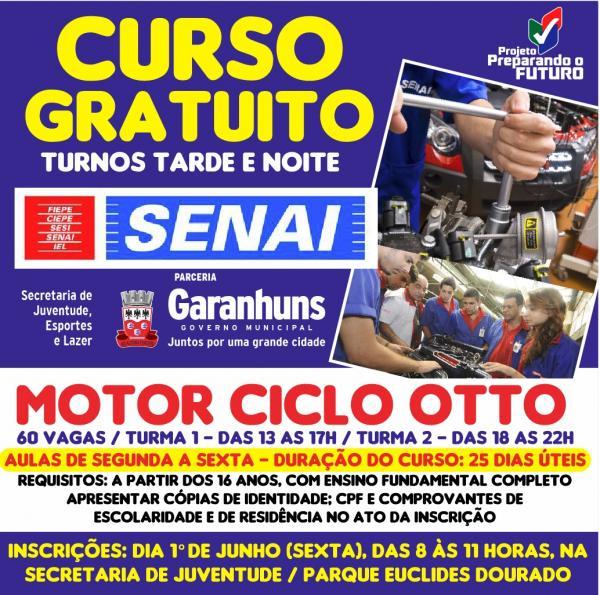 SENAI oferta Vagas Gratuitas em Curso de Motor Ciclo Otto