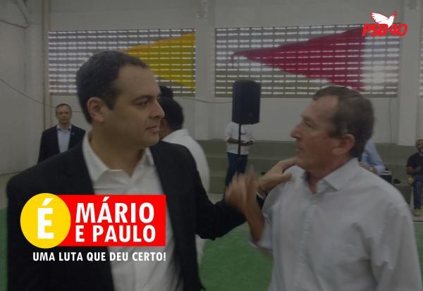 Uma das principais lideranças do PSB, Mário Faustino agradece ao governador pela obra da escola técnica