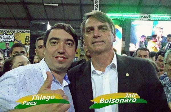 Pré-candidato a deputado estadual, o garanhuense Thiago Paes representará Garanhuns na convenção nacional de Bolsonaro
