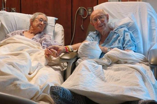 Foto de casal idoso internado no mesmo hospital comove internautas