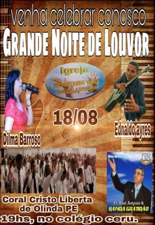 Igreja evangélica realiza Grande Noite de Louvor neste sábado em Garanhuns