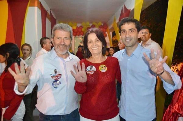 Vereadora Bêtania, Dep. Federal Gonzaga Patriota e o Dep. Estadual Claudiano Filho