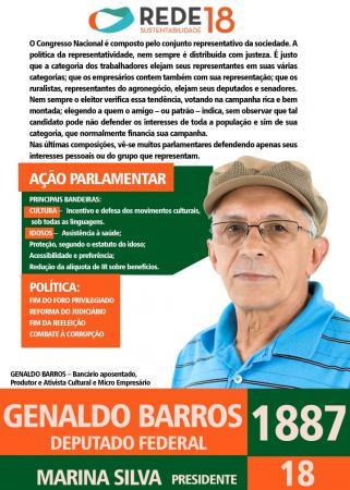 Genaldo Barros é candidato a deputado federal pela REDE