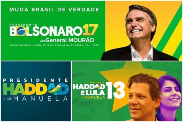 Pesquisa CNT/MDA: Bolsonaro lidera com 57% de votos válidos; Haddad tem 43%