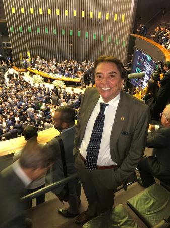 Givaldo Calado de Freitas em Brasília-DF na Câmara Federal, durante a posse do deputado federal Fernando Rodolfo