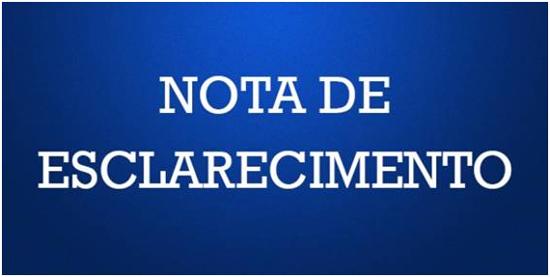 MPPE: NOTA DE ESCLARECIMENTO