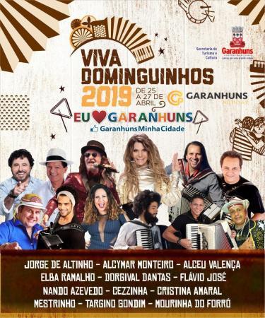 É OFICIAL: Confirmado a programação oficial do Viva Dominguinhos 2019