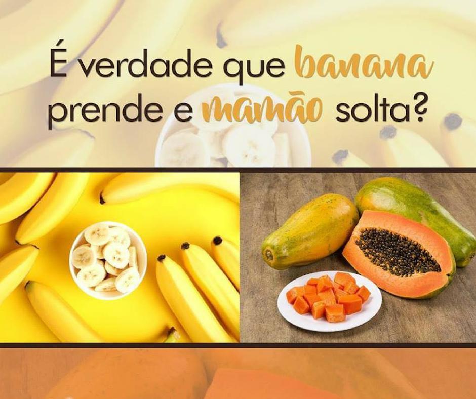Banana é constipante e mamão laxante ?