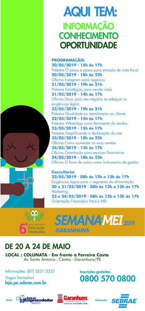 Semana do Microempreendedor Individual tem início nesta segunda (20)