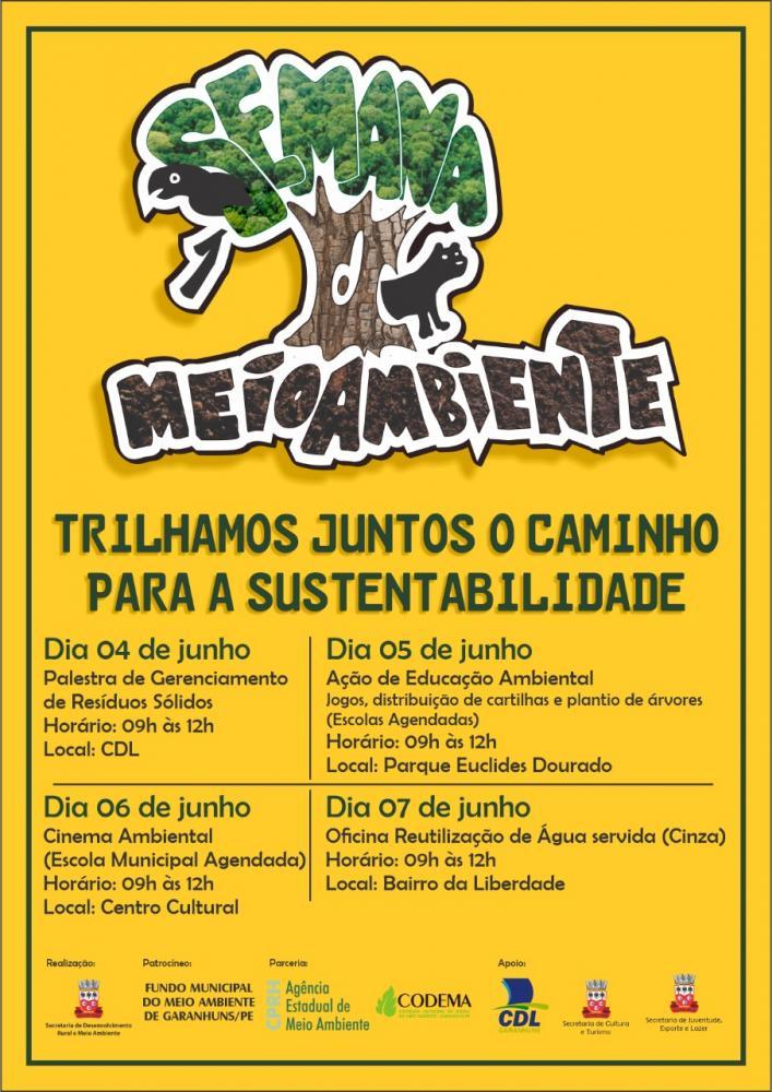 Semana do Meio Ambiente terá início na próxima terça (04), em Garanhuns