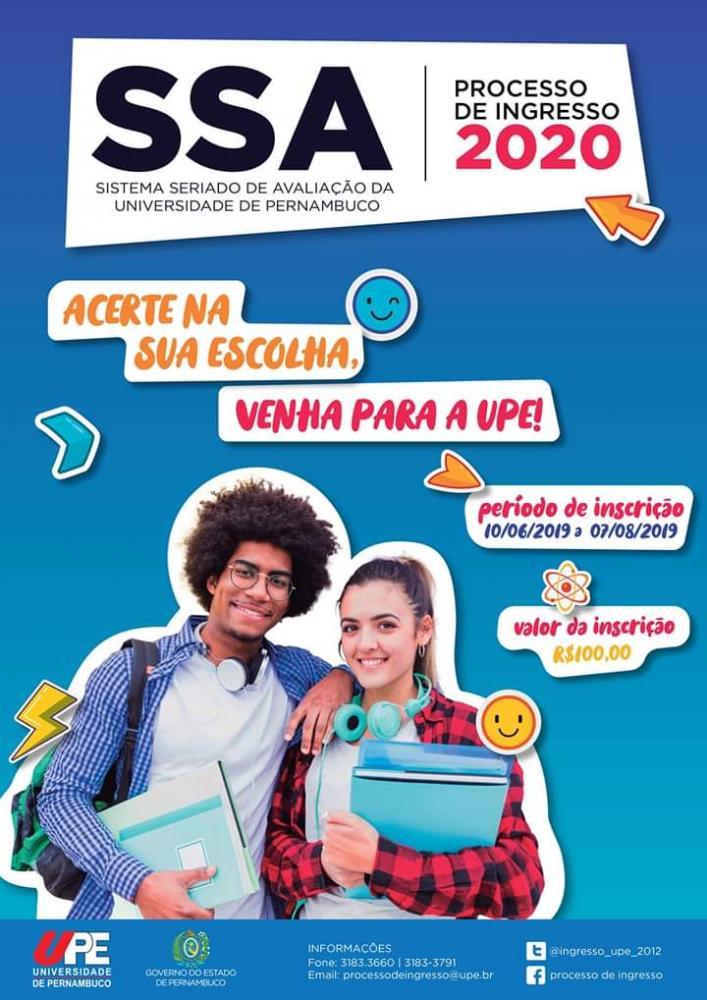 UPE lança seu Processo de Ingresso 2020