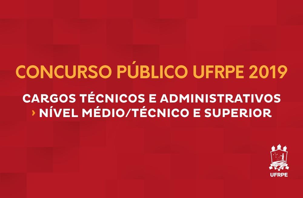 UFRPE realiza concurso público para técnicos administrativos