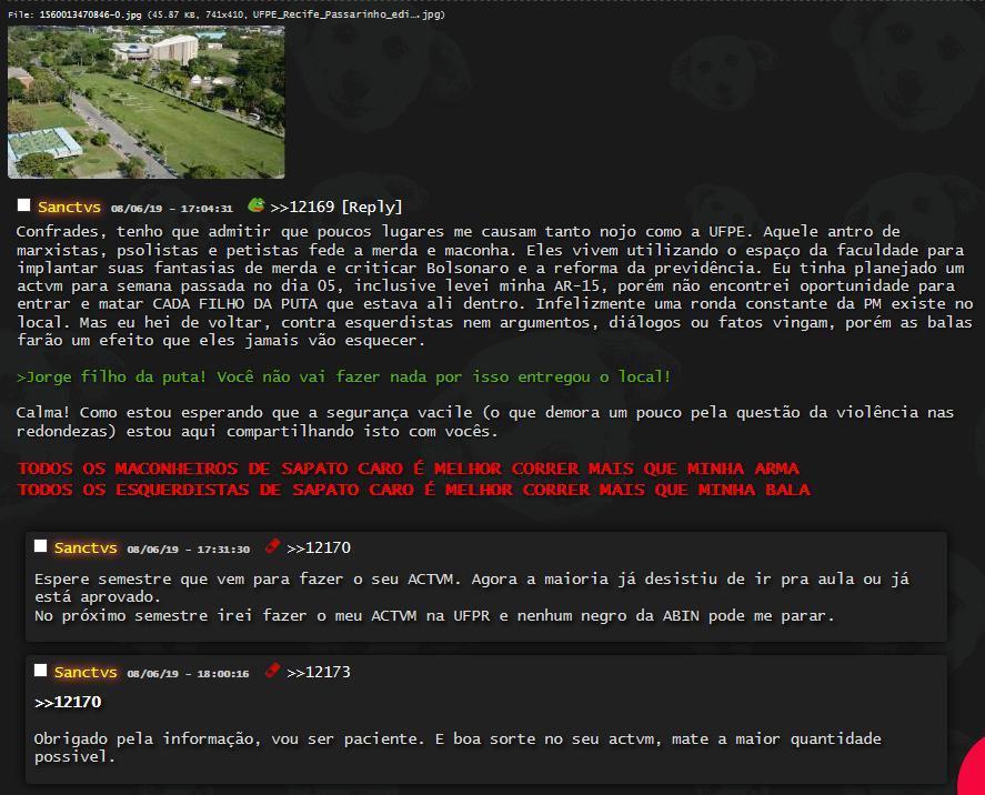 UFPE descobre suposto ataque armado tramado contra instituição na deep web