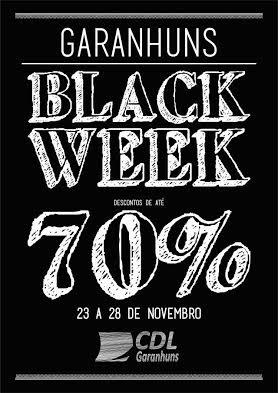 Black Week: comércio de Garanhuns terá semana de descontos que podem chegar até 70%