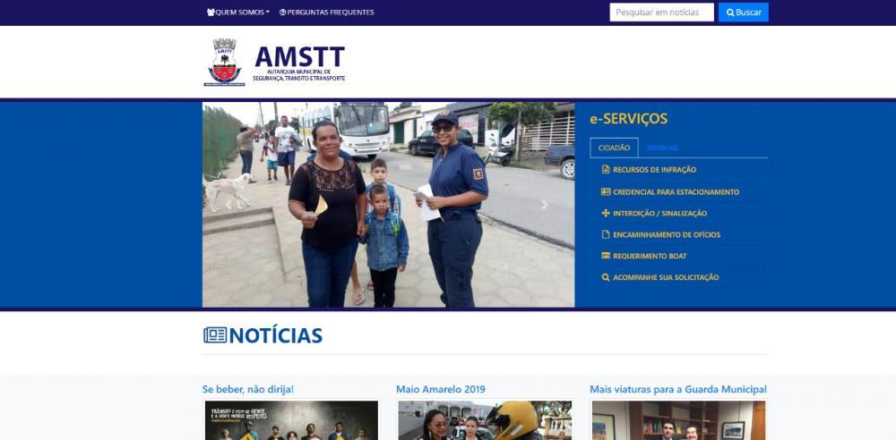 Novo site da AMSTT possibilita solicitação e acompanhamento online de recursos de trânsito