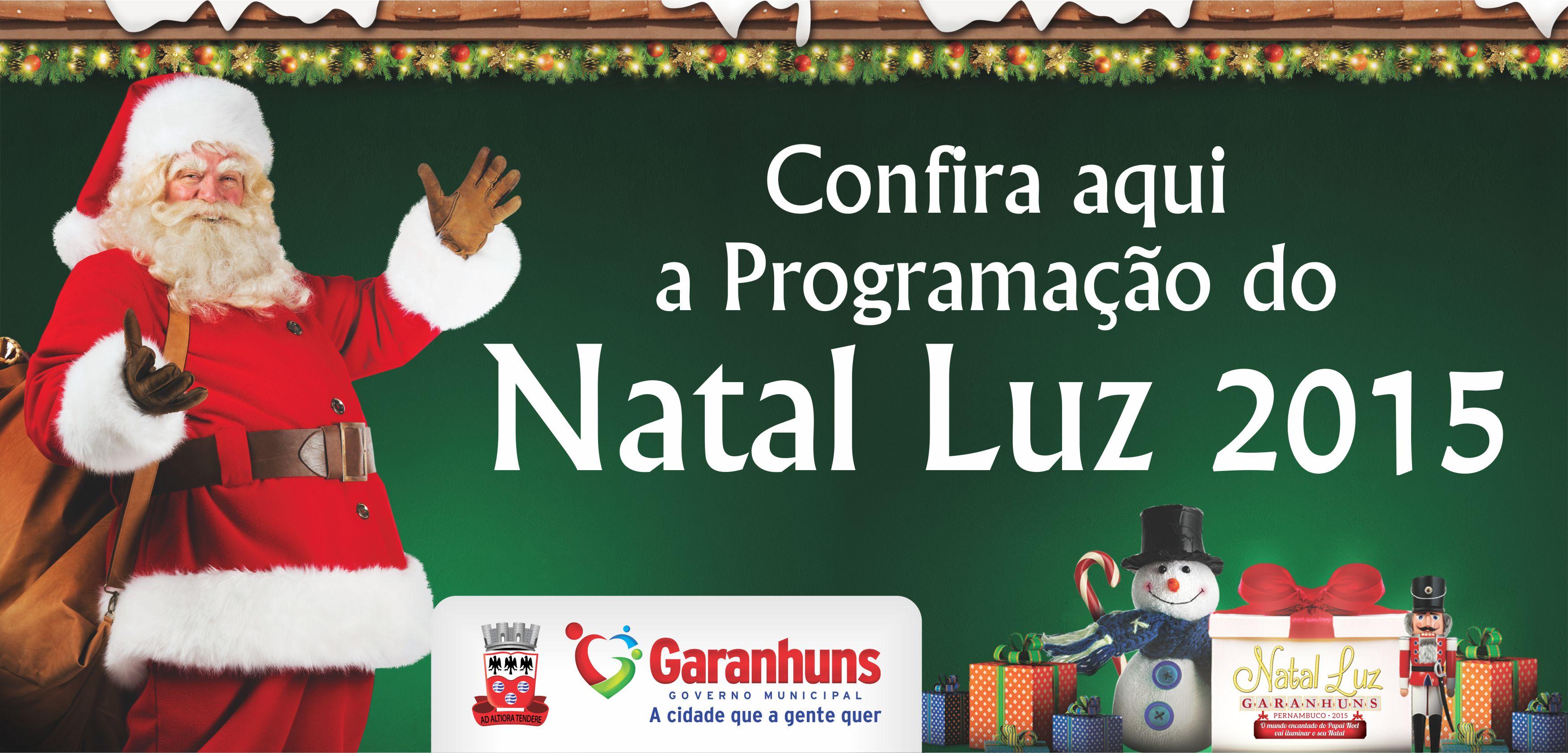 Programação Natal Luz 2015