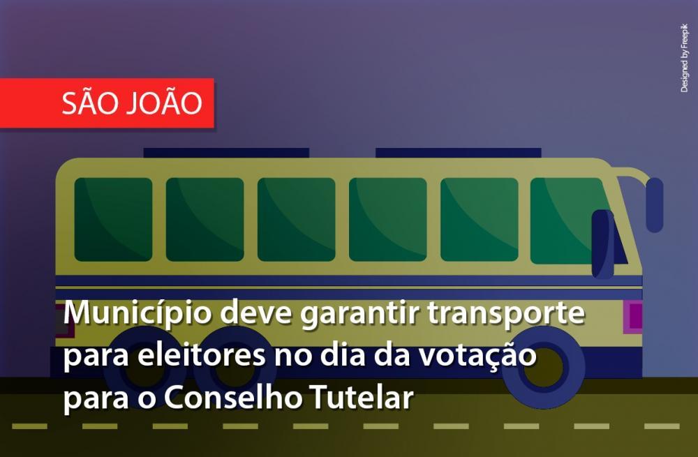 Município de São João deve garantir transporte para eleitores no dia da votação para o Conselho Tutelar