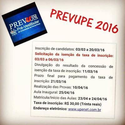 Começa hoje inscrições para o PREVUPE o cursinho pré-vestibular da UPE; Garanhuns foi contemplada com 480 vagas