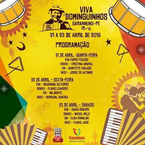 Prefeitura de Garanhuns anuncia atrações do Festival Viva Dominguinhos