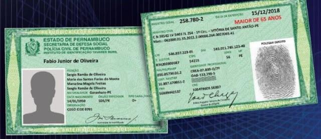 RAPIDEZ E MODERNIDADE: Nova Carteira de Identidade é oferecida em Pernambuco