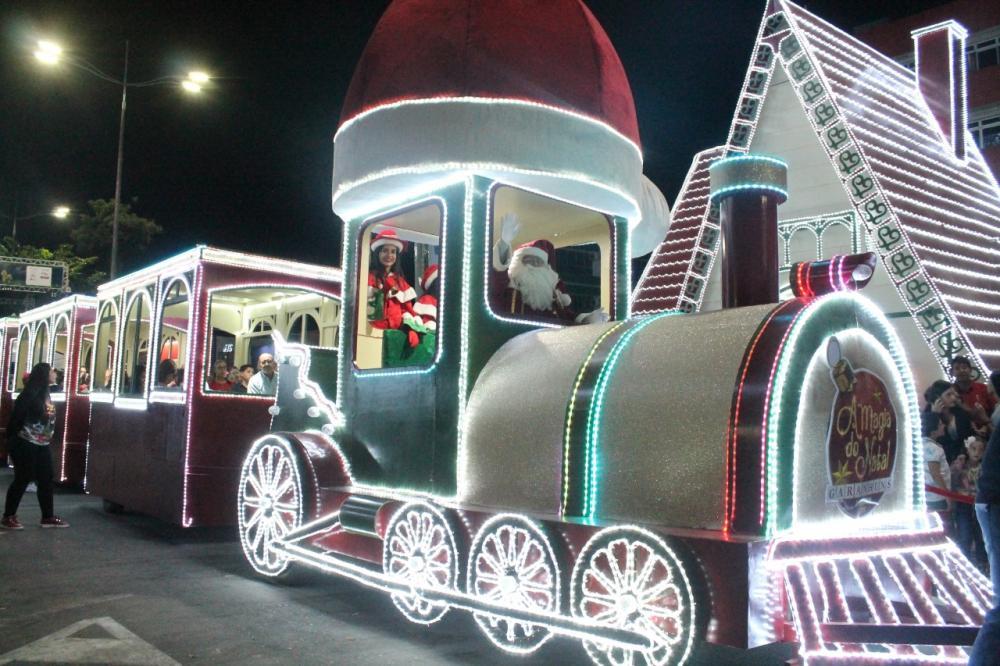 Trem do Papai Noel visita o Relógio de Flores a partir de amanhã (21)