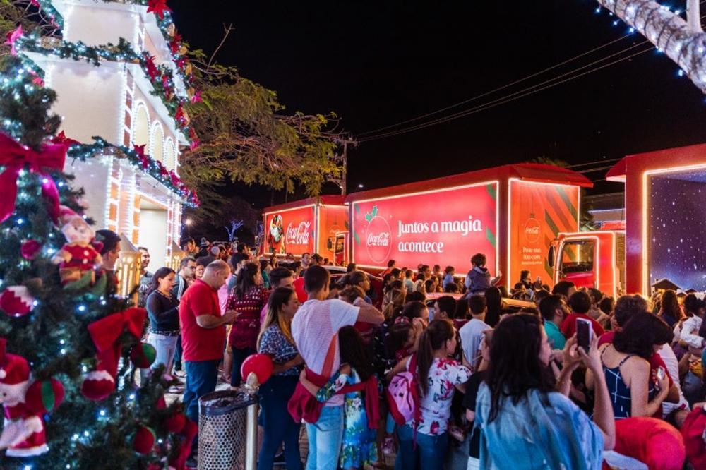 Passagem da Caravana de Natal Coca-cola em Garanhuns e destaque no site gshow da Globo