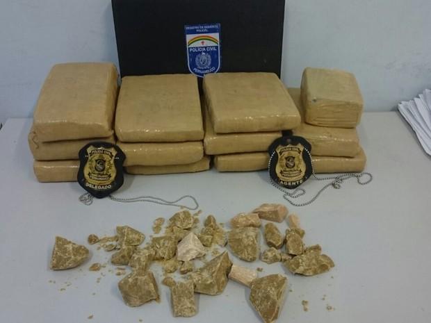 PM prende suspeito e apreende 9 kg de maconha em depósito de Caetés