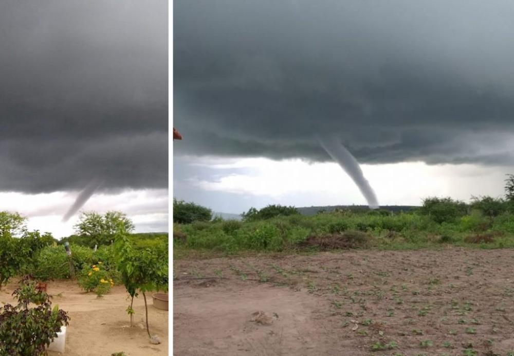 SINAL DOS TEMPOS: Princípio de tornado assusta moradores do Agreste Meridional