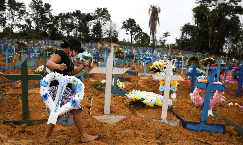 Covid-19: Brasil bate recorde de mortes e casos confirmados notificados nesta quarta-feira (06)