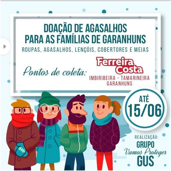 Inverno Solidário: Ferreira Costa apoia campanha do agasalho