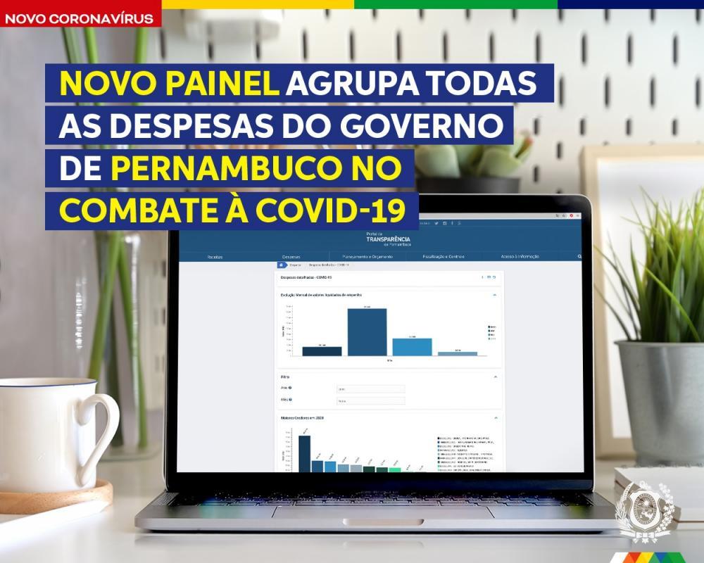 Transparência: novo painel apresenta todos os empenhos realizados pelo Governo de Pernambuco no combate à Covid-19