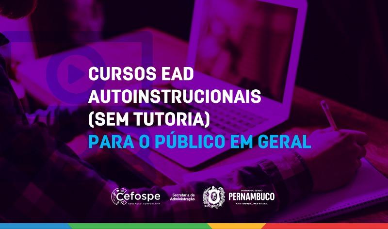 Secretaria de Administração disponibiliza cursos para o público em geral