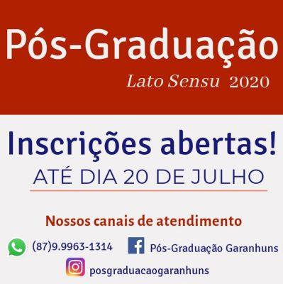 UPE Garanhuns está com inscrições abertas para os cursos de pós-graduação; saiba como se inscrever
