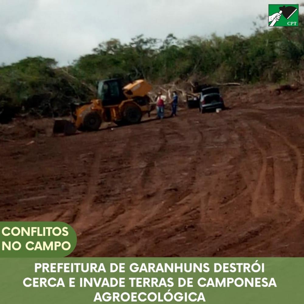 POLÊMICA: Pastoral da Terra denuncia prefeitura de Garanhuns por destruir cerca e invadir terras de camponesa agroecológica