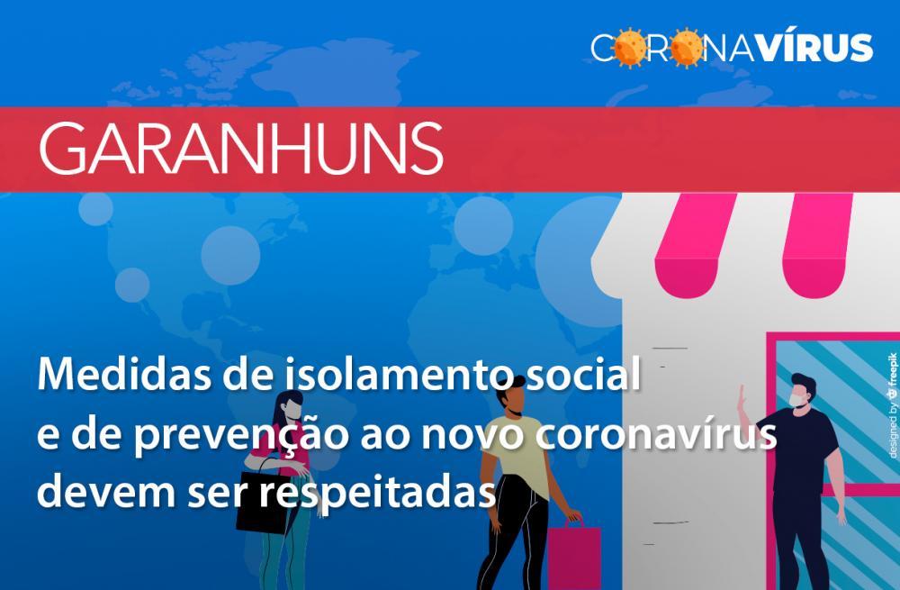Garanhuns: População deve respeitar medidas de isolamento social e unidades de saúde precisam observar medidas de prevenção ao novo coronavírus