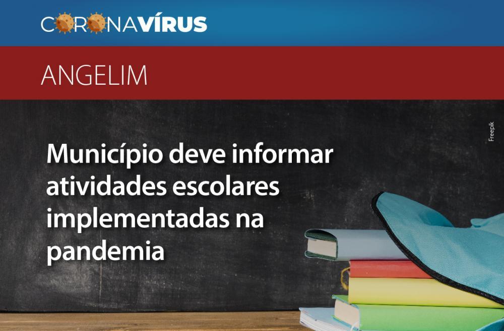 MPPE recomenda ao município de Angelim que informe atividades escolares implementadas na pandemia e calendário de reposição das aulas