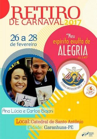 Retiro de Carnaval da RCC em Garanhuns contará com presença de Missionários da Canção Nova