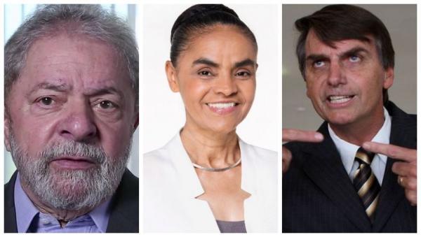Lula lidera, e 2º lugar tem empate de Marina e Bolsonaro, diz Datafolha