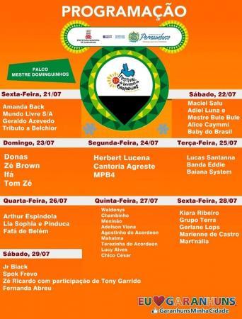 Confira a programação completa do 27º Festival de Inverno de Garanhuns