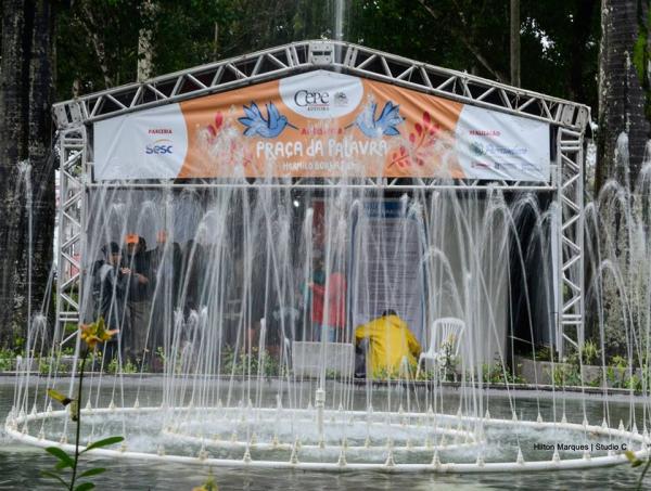 Praça da Fonte Luminosa é polo para literatura durante o FIG